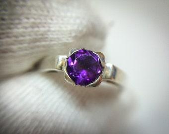 Purple Amethyst Ring Royal Purple Amethyst Natural Amethyst Gemstone Gift For Her