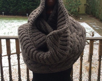 Infinity Heather Brown Scarf
