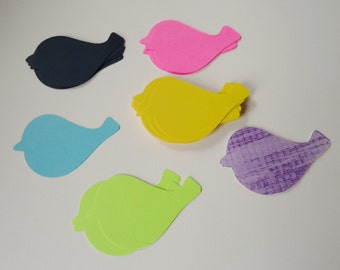 25 Assorted Card Stock Bird Cut Outs sold as destash seconds as is