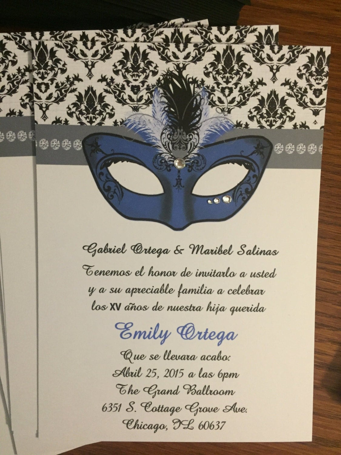 Masquerade Quince Invitations Masquerade Quinceanera Party
