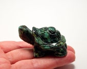 African Turquoise Crystal Turtle 2 inch The Happiness Stone! Reduces Anxiety!