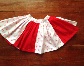 Vintage Pleated Posey Skirt, size 2-3