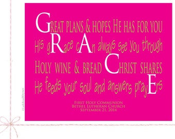 First Communion Gifts For Girls First Communion Poems Catholic Gifts Goddaughter Religious Gifts Christian Name Poem Personalized 8x10 Grace