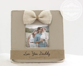 Dad Father Daddy Personalized Picture Frame Gift for Father's Day 'Love You Daddy' gift from Child Son Daughter