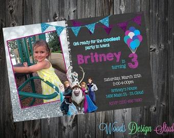 Custom Frozen Birthday Party Invitations - DIY Printable File