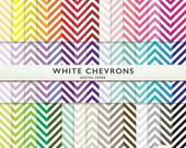Chevron Digital Paper - 45 Sheets-  Rainbow - Scrapbooking Commercial Instant Download Cardstock G7100