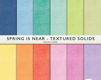 Digital Paper - Textured Solids - Spring is Near -  Personal and Commercial Scrapbooking Instant Download Cardstock - G7041