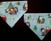Christmas Dog Bandanas made from Charlie Brown Fabric!!