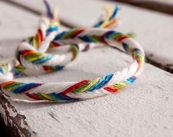 Rainbow friendship string , custom request