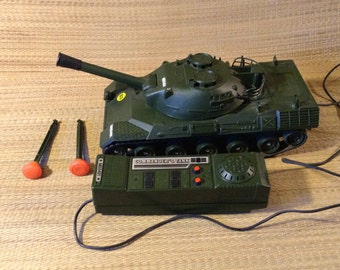 Vintage Echo Commander's Tank, Toy US Army Military Tank,