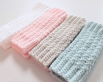 Baby Leg Warmers, Crochet Leg Warmers for Baby/Toddler/Child, Crochet Leg Warmers - Color Choices, Sizes 1-5 Years