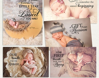 Newborn Overlays PSD & PNG - Photography Newborn Words Overlays ID215