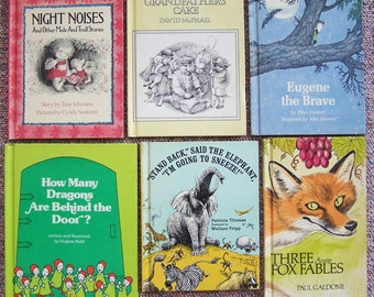 1970s Weekly Reader Book Club Collection - Children's Book Lot of 12 - Stand Back Said the Elephant, Night Noises, Gus Goes to School