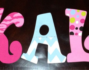 "9"" whimsical handpainted letters-teen room"