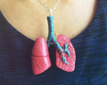 Anatomical Lung Necklace