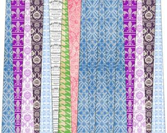Paper Bead Designer Kit Vintage Pastel  Templates for Paper Beads Kit 2