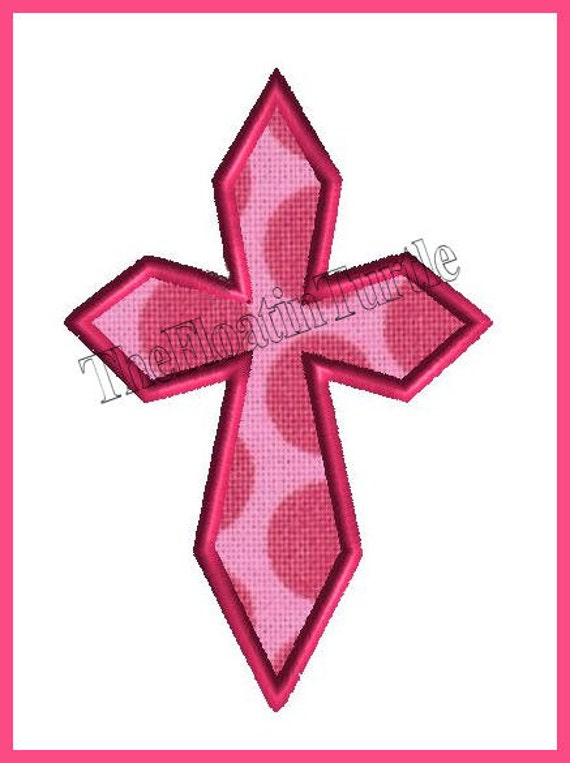 Cross applique embroidery design machine by