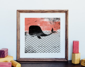 Square Whale Giclee Art Print