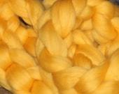 Polish Merino, Mustard Yellow, 4 oz, Combed Top, Roving, Spinning or Felting