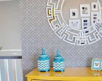 Lattice Wall Stencil Reusable