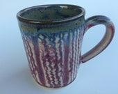 Large 12 ounce mug - handmade pottery mug - coffee mug - tea cup - wheel thrown mug.