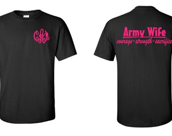 Monogram Army Wife Shirt