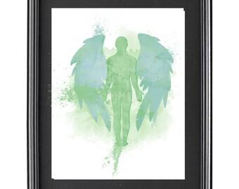 Archangel Raphael Digital Water Color Print
