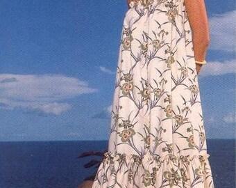Long Sundress with gathered bottom - pdf pattern