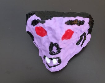 Vampire Face Painted Rock