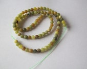 Antiqued New Jade Beads, (dyed), 4-5mm, Round, 15 inch Strand, Green Beads, Jade Beads, Round Beads, Round Green Beads  #2353