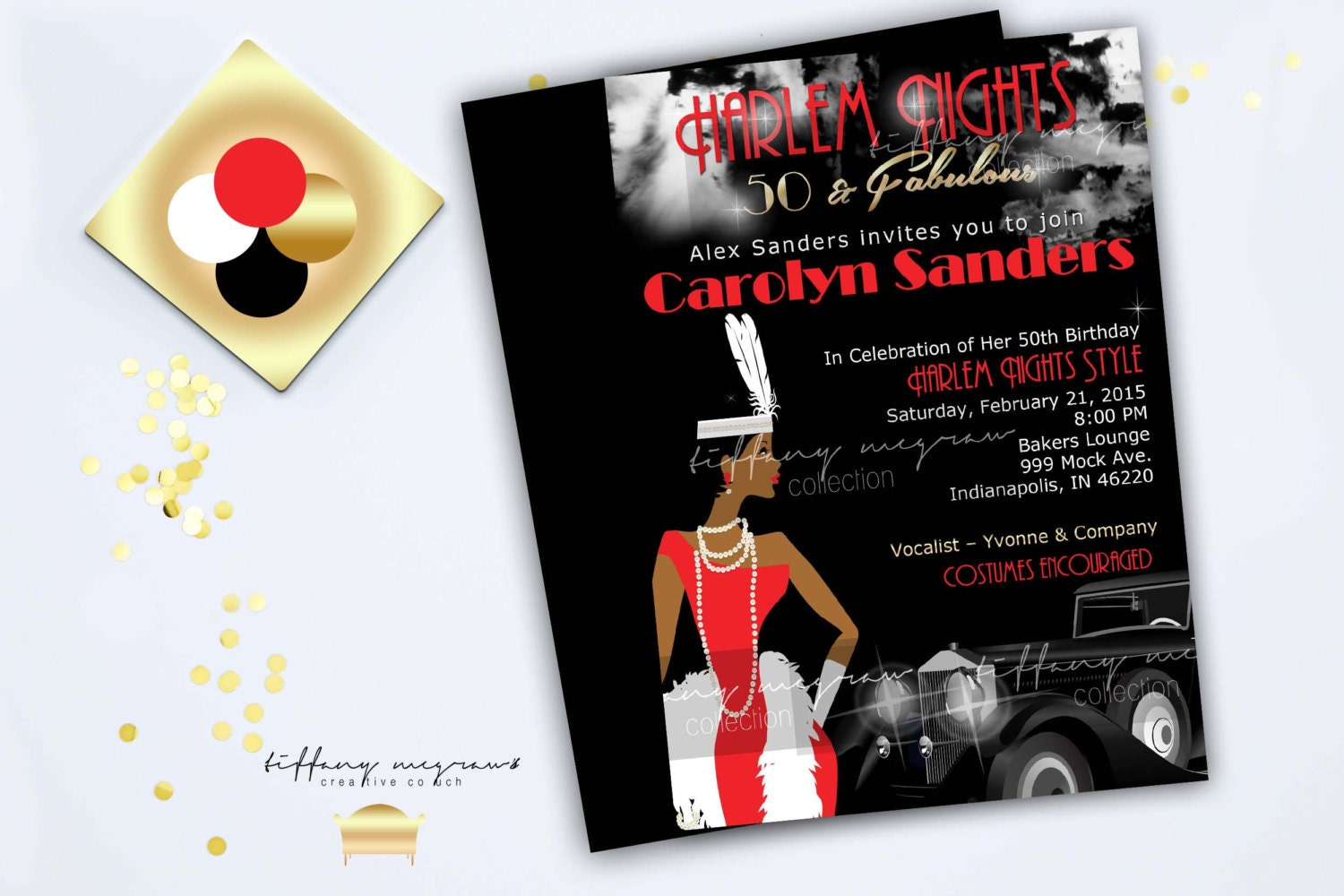 A Fabulous Harlem Night African American Invitation