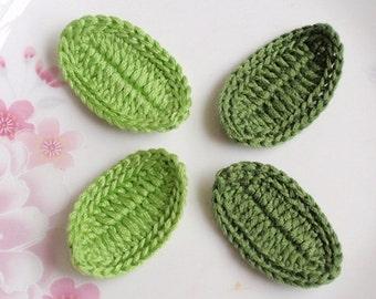 4 Crochet  Leaves  YH-198
