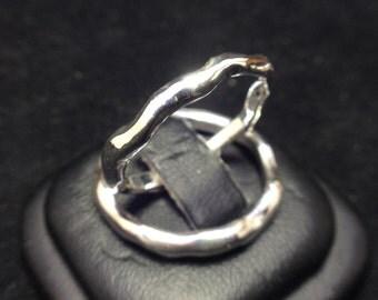 Handmade Wedding Rings, Organic Solid Silver band (Set of 2)
