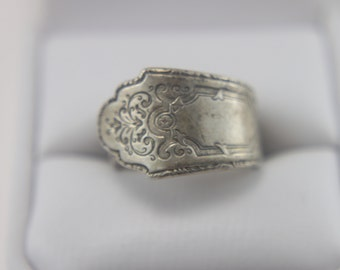 FINAL SALE!! Vintage Ring STERLING with Etching
