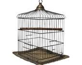Antique Victorian Brass Bird Cage Brass Large 1880s