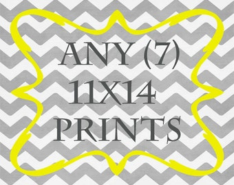 Any (7) 11x14 Prints - ANY prints from Rizzle And Rugee