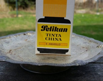 Vintage Pelikan Ink With Original Box in 5 Yellow