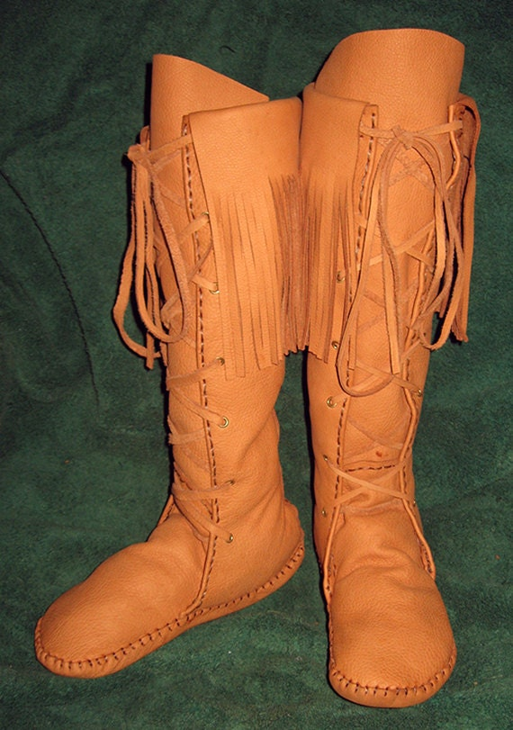 Items similar to custom made native american plainsman lace up style