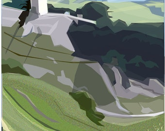Peveril Castle .. limited edition giclee print