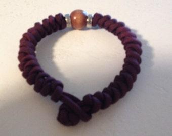 Men's Burgundy bracelet