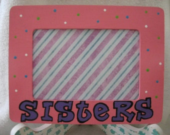 Sisters Picture Frame Pink