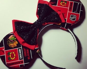Chicago Blackhawks Mouse Ears
