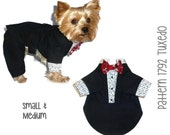 Dog Tuxedo Pattern 1792 * Small & Medium * Dog Clothes Sewing Pattern * Dog Suit * Dog Wedding Apparel * Dog Pants Pattern * Dog Jacket