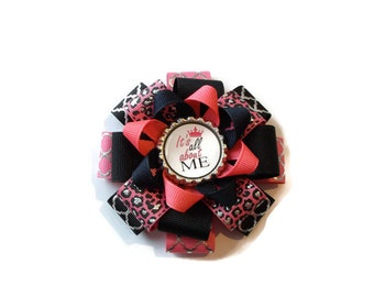 It's all about Me Loopy Flower Bow (3 1/2 inches wide)
