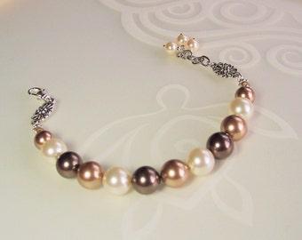 Swarovski Multi Color Pearl  Bracelet Kit