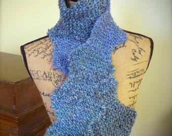 Variegated Blue Zig Zag Scarf