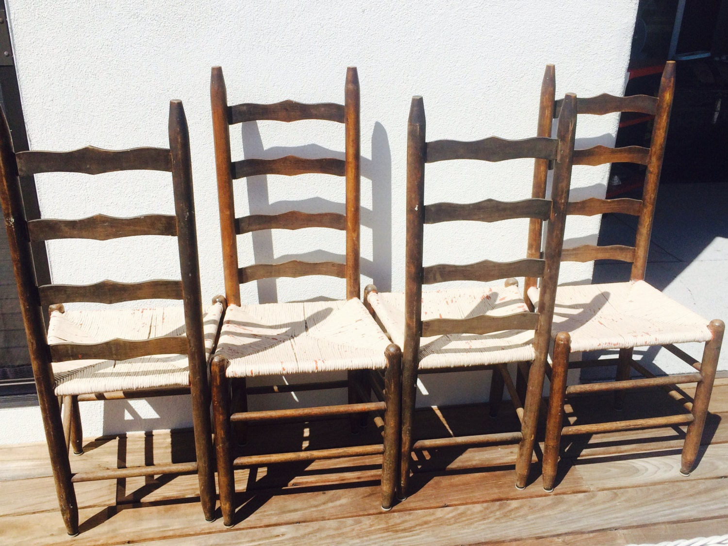Antique ladderback chairs - Like This Item