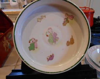 Noritake child's porcelain feeding dish.