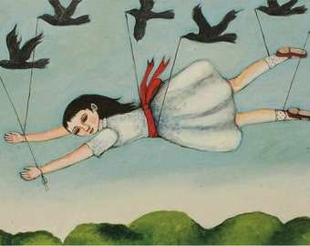 Girl with Crows, artist card