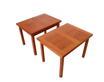 Teak Side Tables  Made by A.B.J. Danish Modern  1970